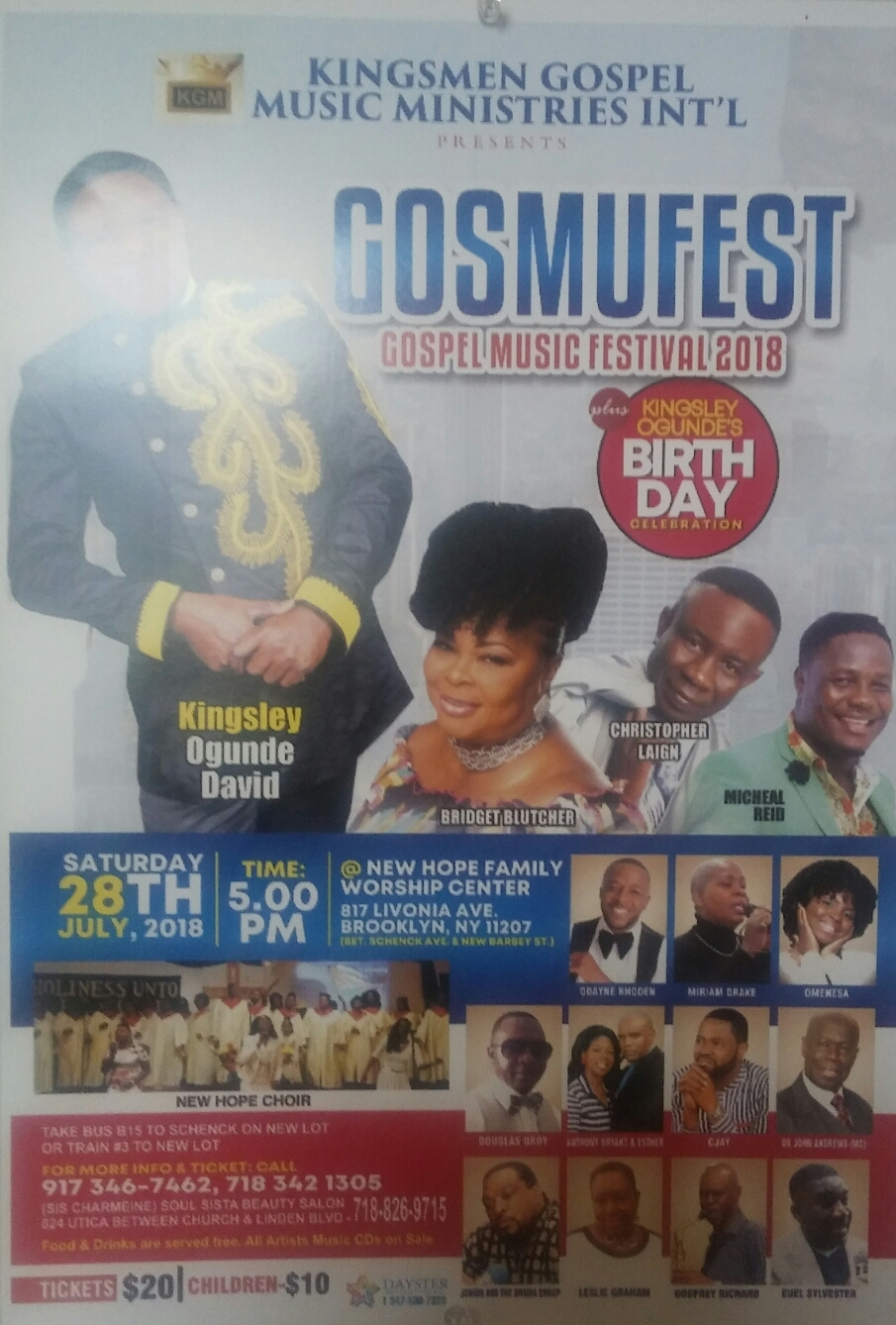 GOSMUFEST - Gospel Music Festival 2018 @ New Hope Family Worship Center